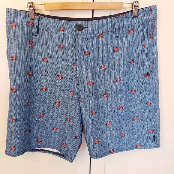 37662f6f9e Sperry Swim | Size 36 Board Shorts Blue With Crabs | Poshmark